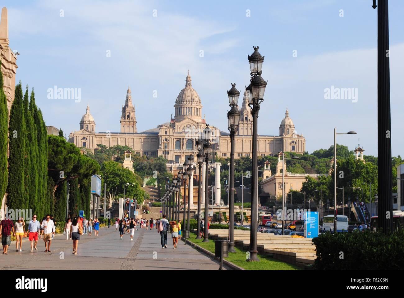 National Museum of Art of Catalunya (MNAC), Barcelona, Spain - Stock Image