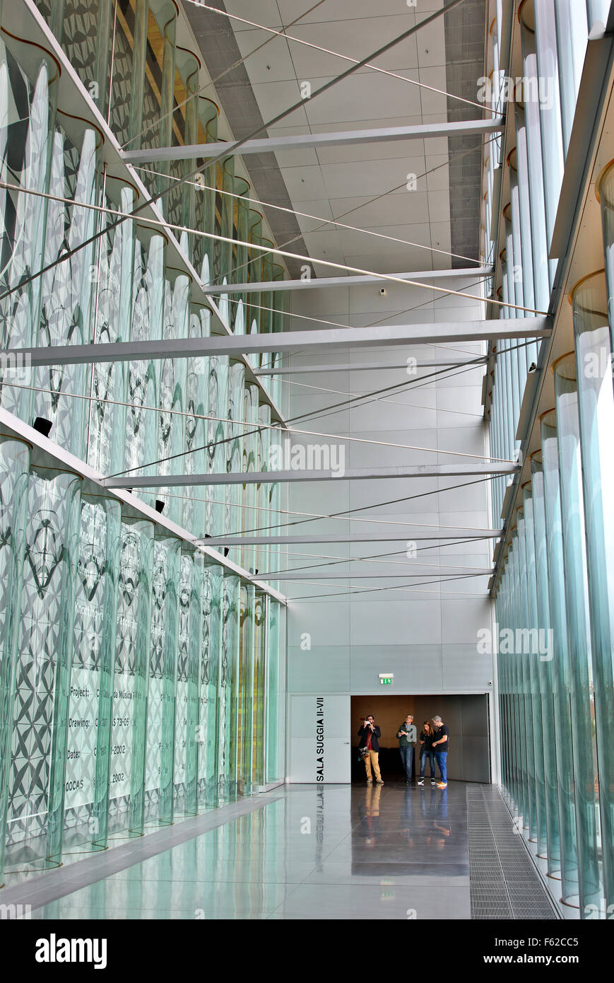 Inside Casa da Musica, Porto, Portugal. (Architect: Rem Koolhaas). It has become sort of a 'trademark' of - Stock Image