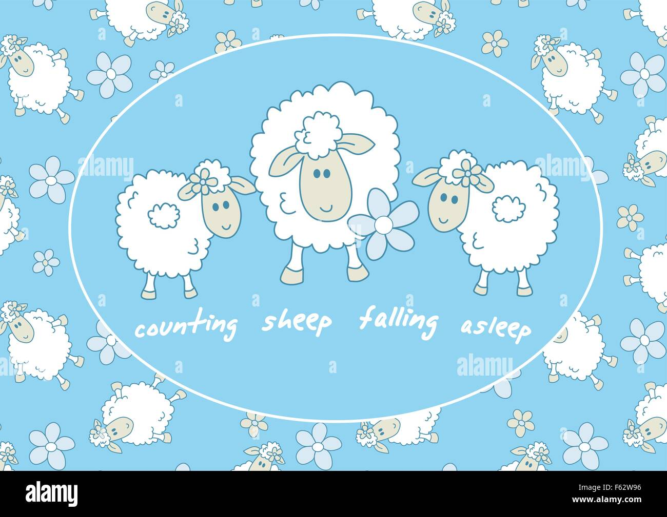 Counting Sheep Stock Vector Images - Alamy