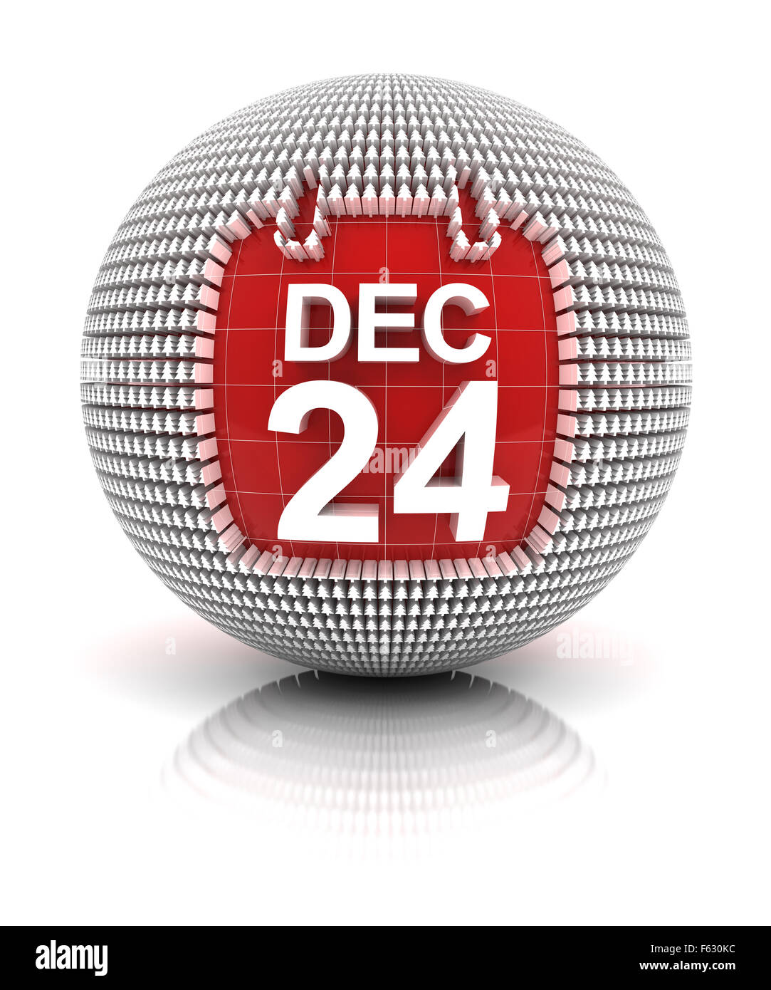 Christmas eve icon - Stock Image