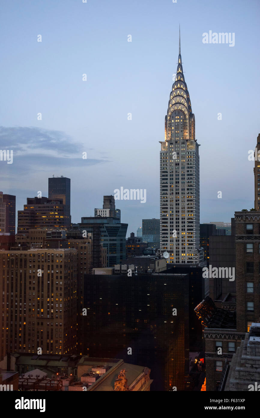 Chrysler building at dusk - Stock Image