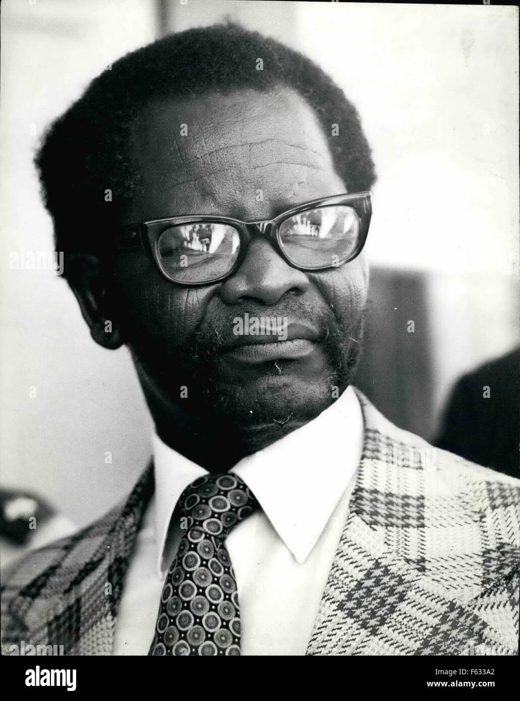 1973 - Oliver Tambo, President of the African National Congress of South Africa. Born 1917. Educated Fort Hare University. - Stock Image