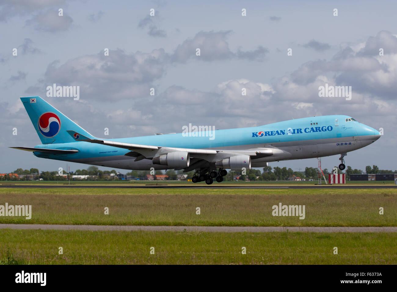 Korean Air Cargo Boeing 747 - Stock Image