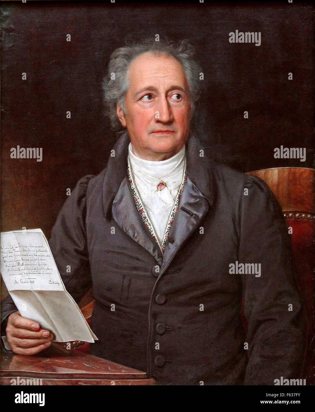Johann Wolfgang von Goethe, German writer and statesman. - Stock Image