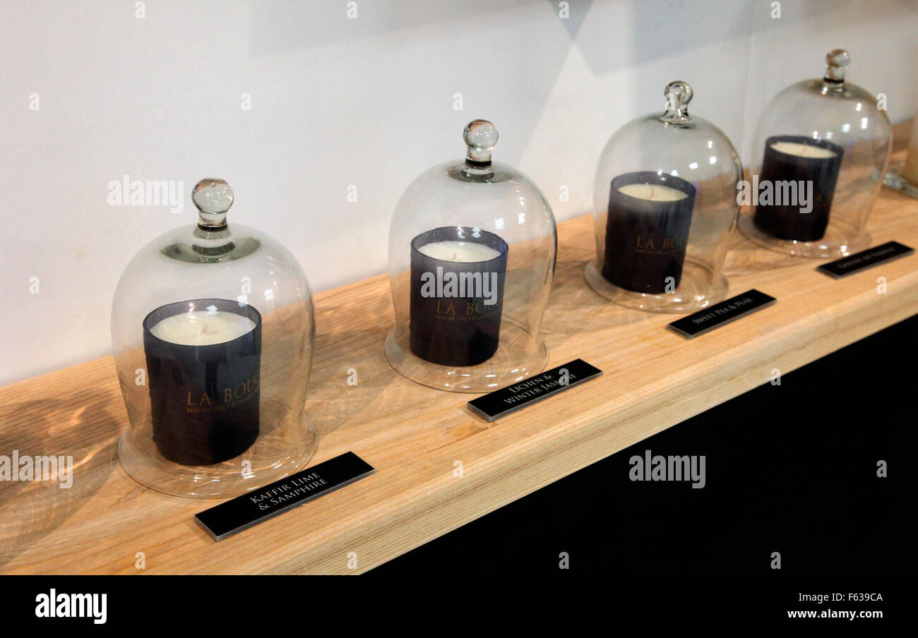 La Bougie perfumed candles by Lucy Hagerty of in Kinsale Stock Photo