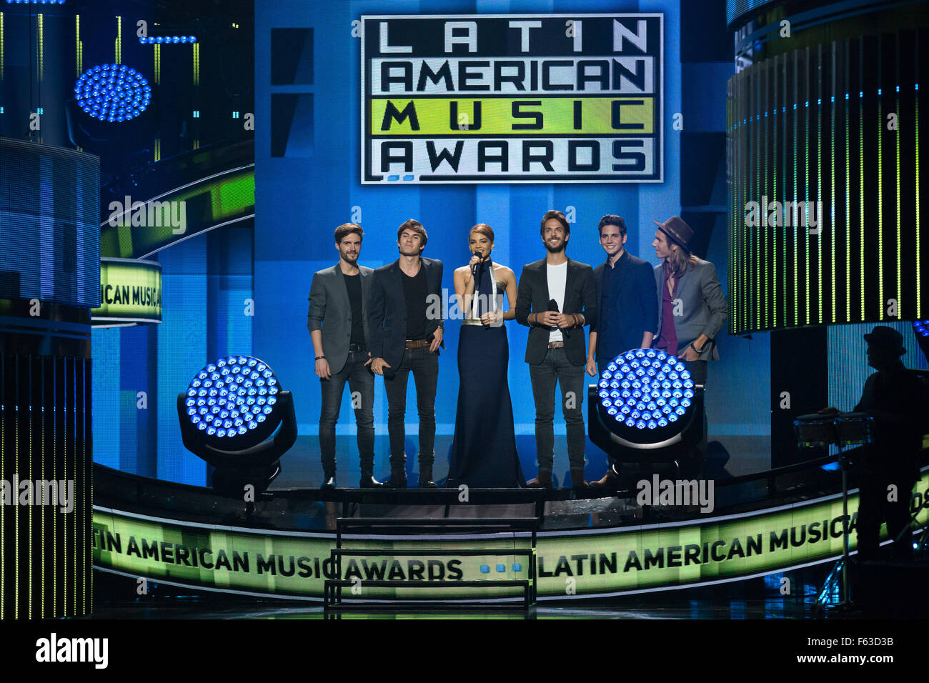Celebrities perform onstage at the Latin American Music Awards at the Dolby Theatre  Featuring: Guests Where: Los Stock Photo