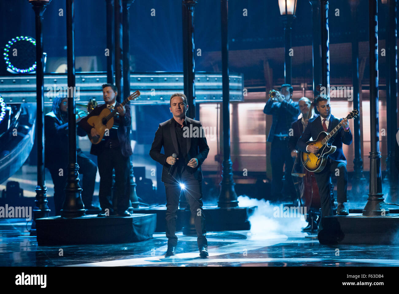 Celebrities perform onstage at the Latin American Music Awards at the Dolby Theatre  Featuring: Fonseca Where: Los Stock Photo