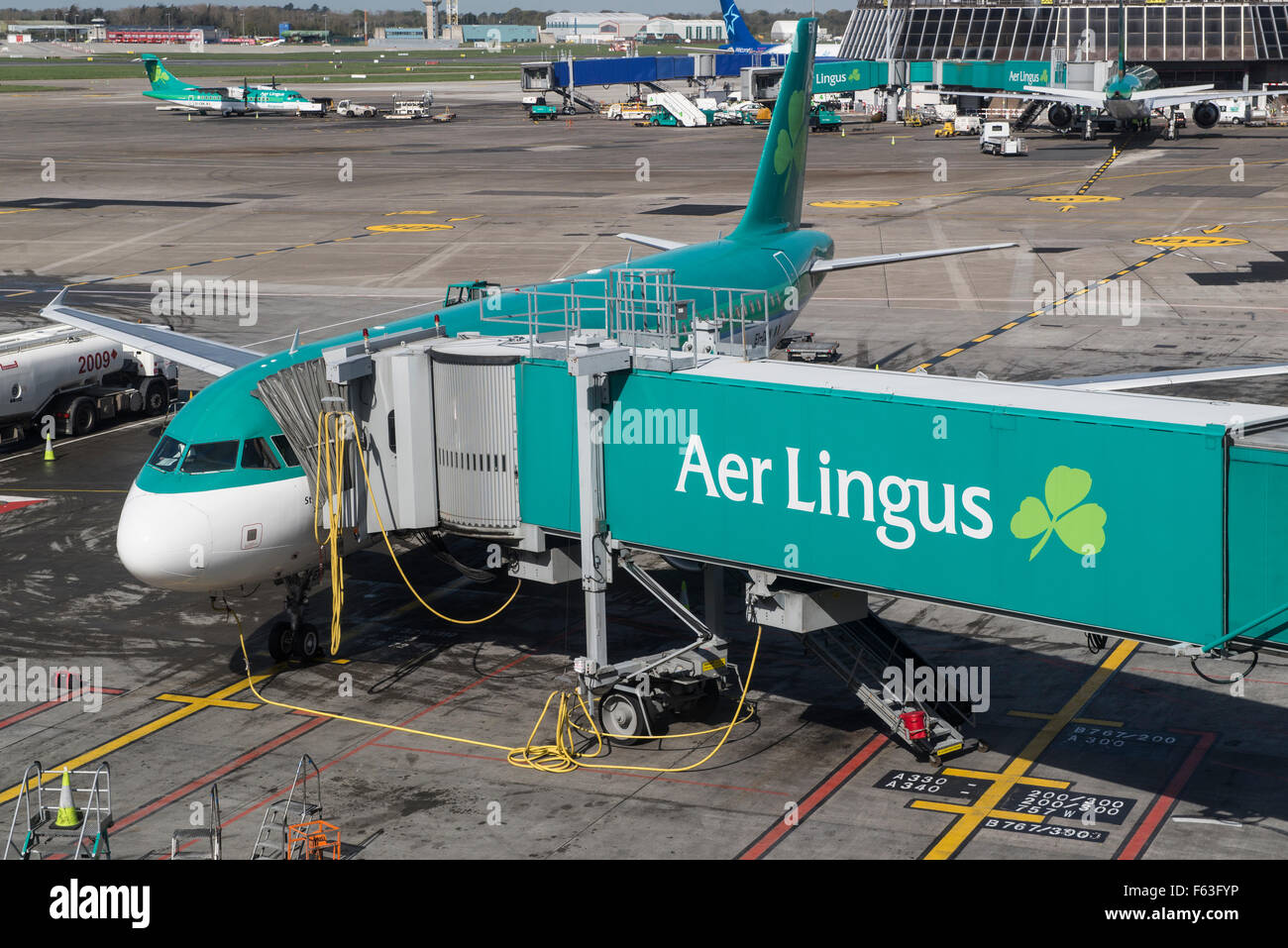 Aer Lingus Airbus A320-214 with registration EI-DEN at Dublin airport - Stock Image