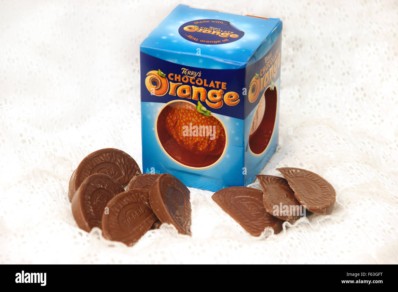 A Terry S Chocolate Orange A Delicious Christmas Treat Stock Photo