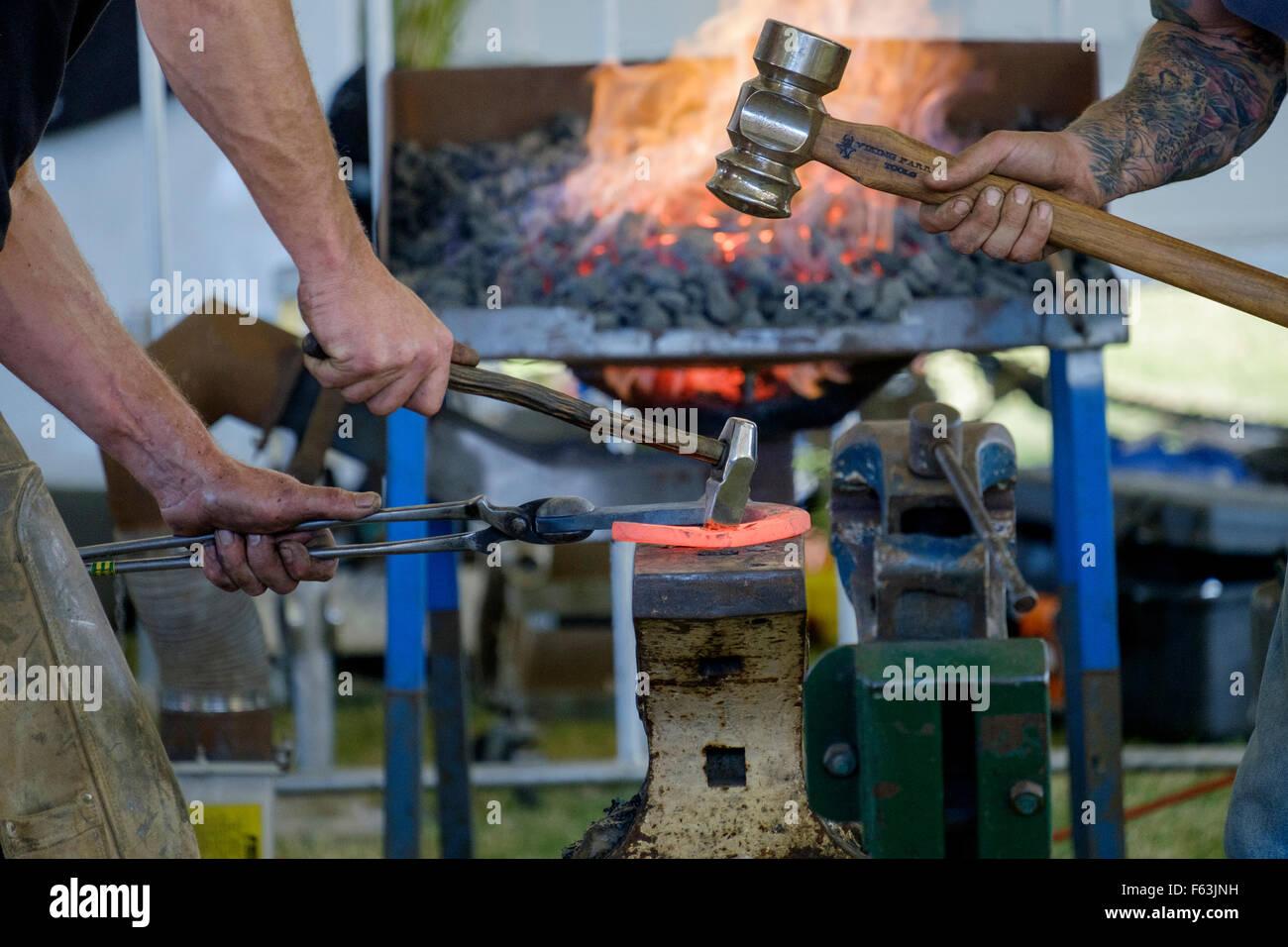 Farriers & blacksmiths at Ekka 2015 - Stock Image