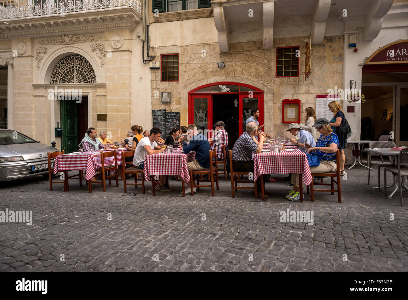 Street scenes and details in Valletta, Malta. - Stock Image