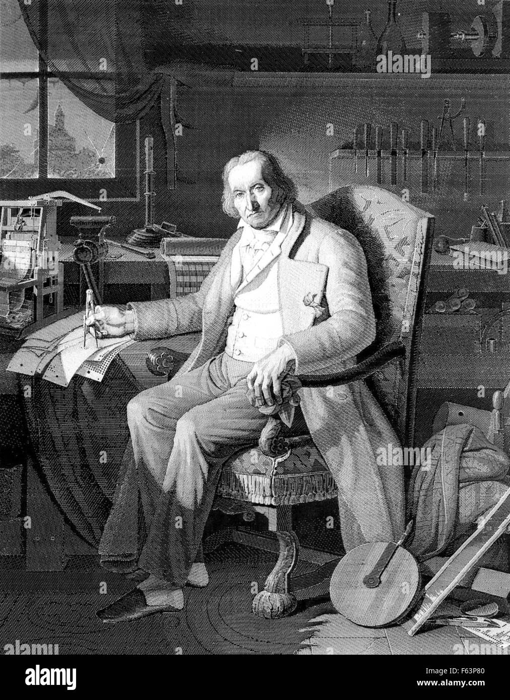JOSEPH JACQUARD (1752-1834) French weaver and inventor - Stock Image