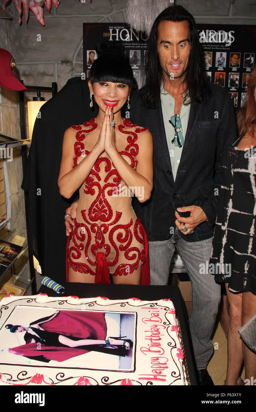 Bai Ling Is Surprised With A Birthday Party During A Meet And Greet