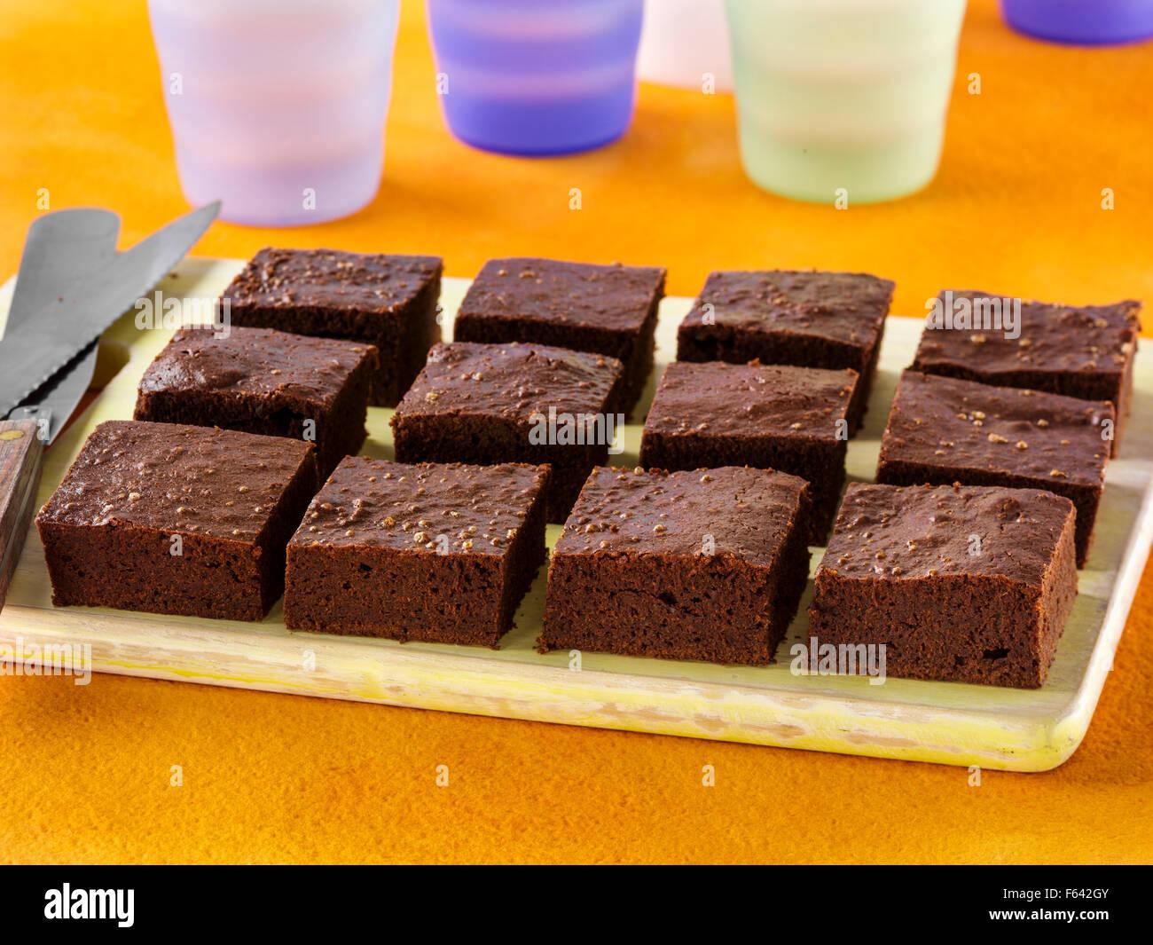 Effortless brownies - Stock Image