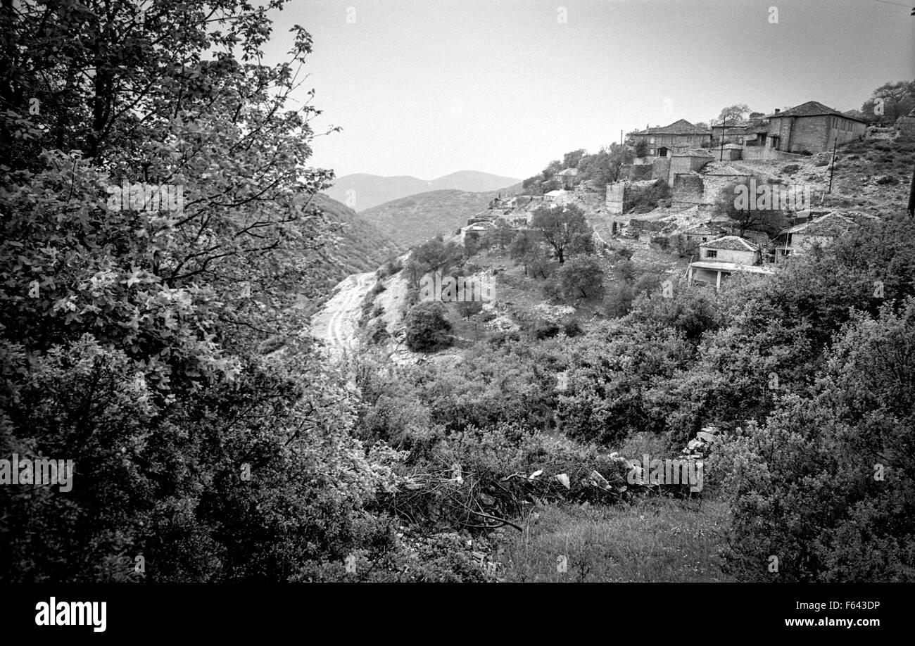 Elafotopos, Epirus, northern Greece, and surrounding area, taken in 1993. - Stock Image