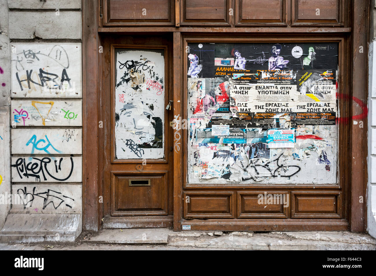 Graffiti in Athens, Greece. - Stock Image