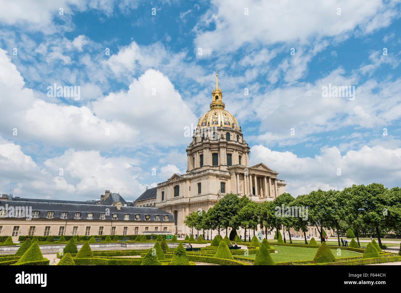 Les Invalides, Paris, Ile-de-France, France - Stock Image