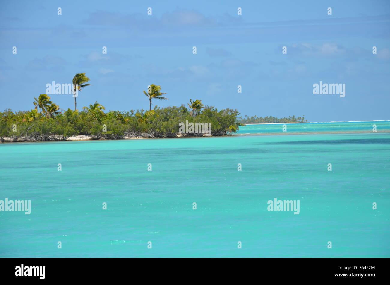 Aitutaki lagoon, the Cook Islands - Stock Image
