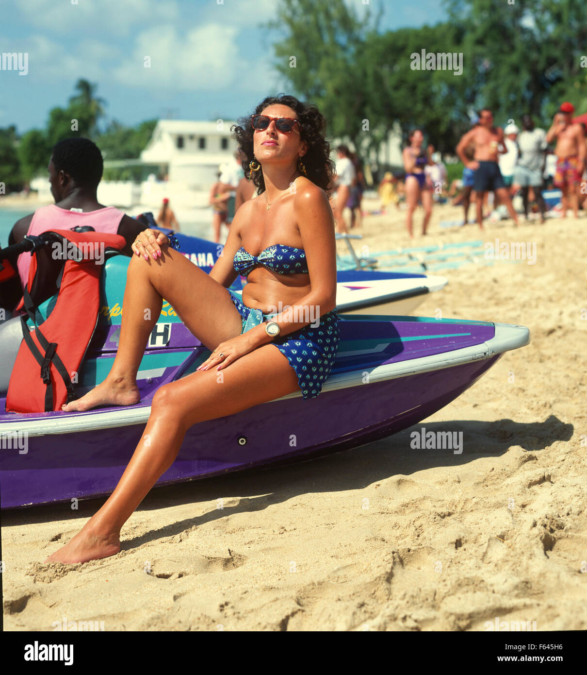 Barbados, St Peter, Mullins Beach, Watersports. - Stock Image