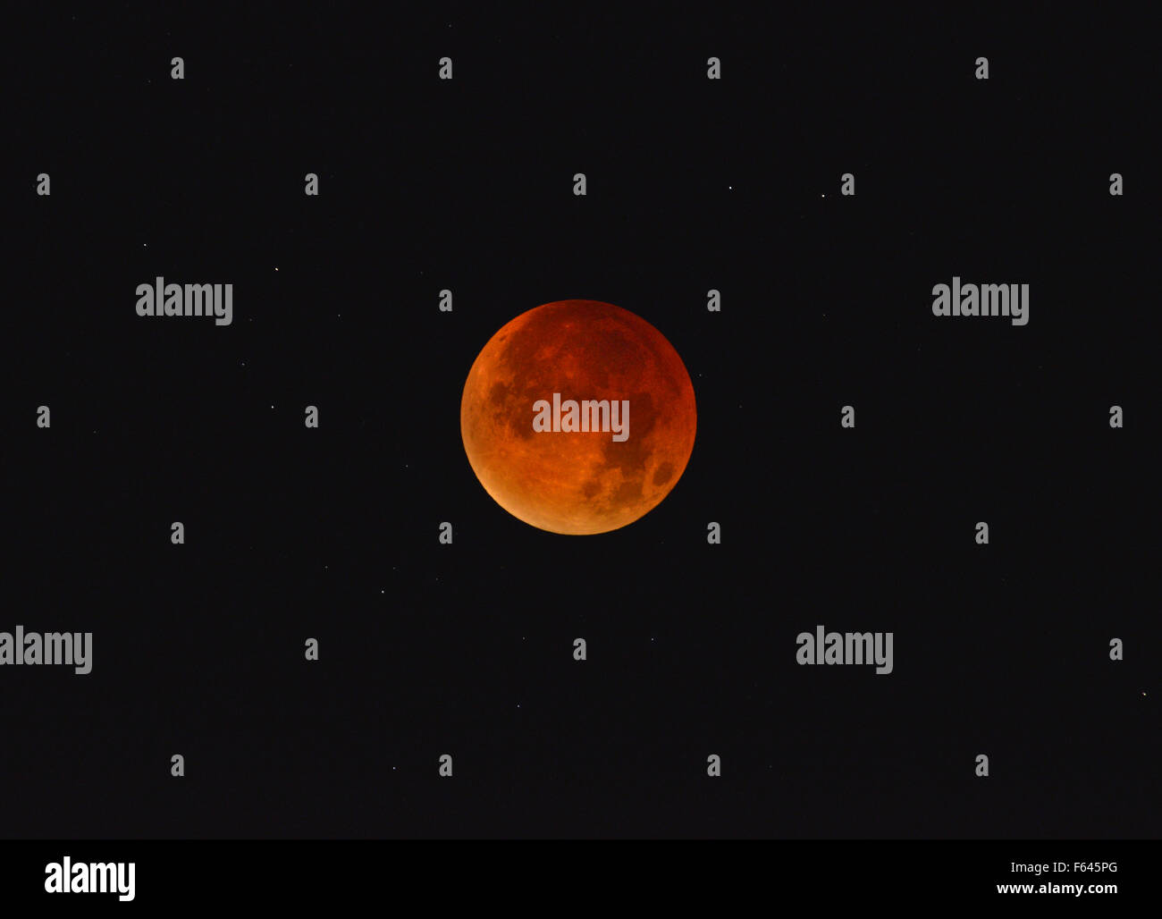 Lunar eclipse/Red Moon Stock Photo