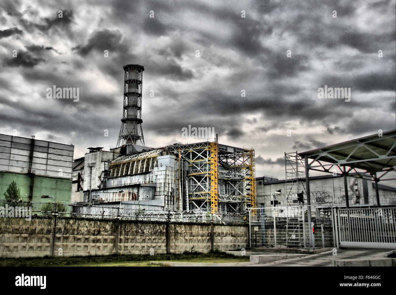 Chernobyl nuclear power station. 4-th block. Ukraine - Stock Image