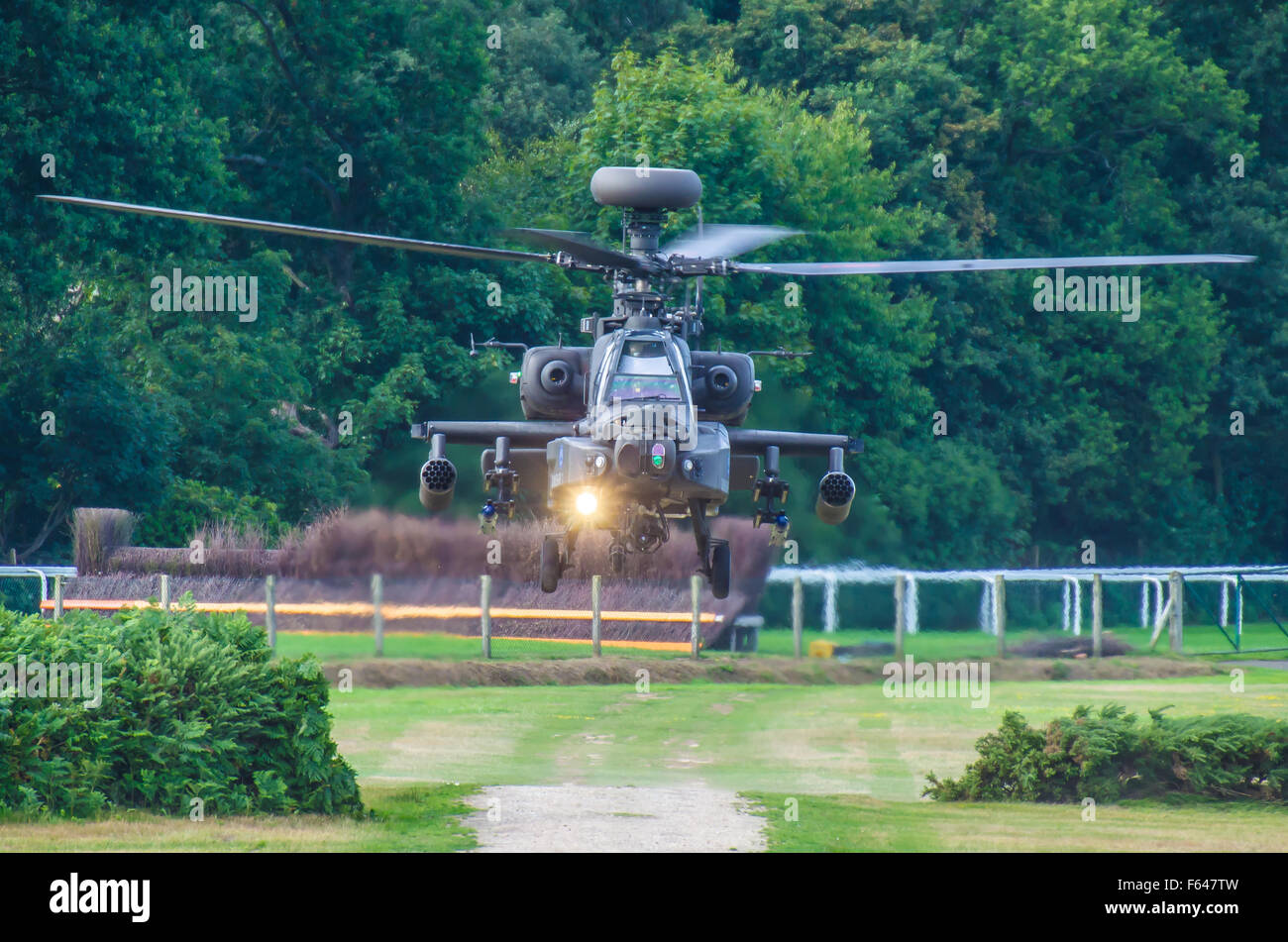AgustaWestland Apache is a licence-built version of the AH-64D Apache Longbow attack helicopter for the British - Stock Image
