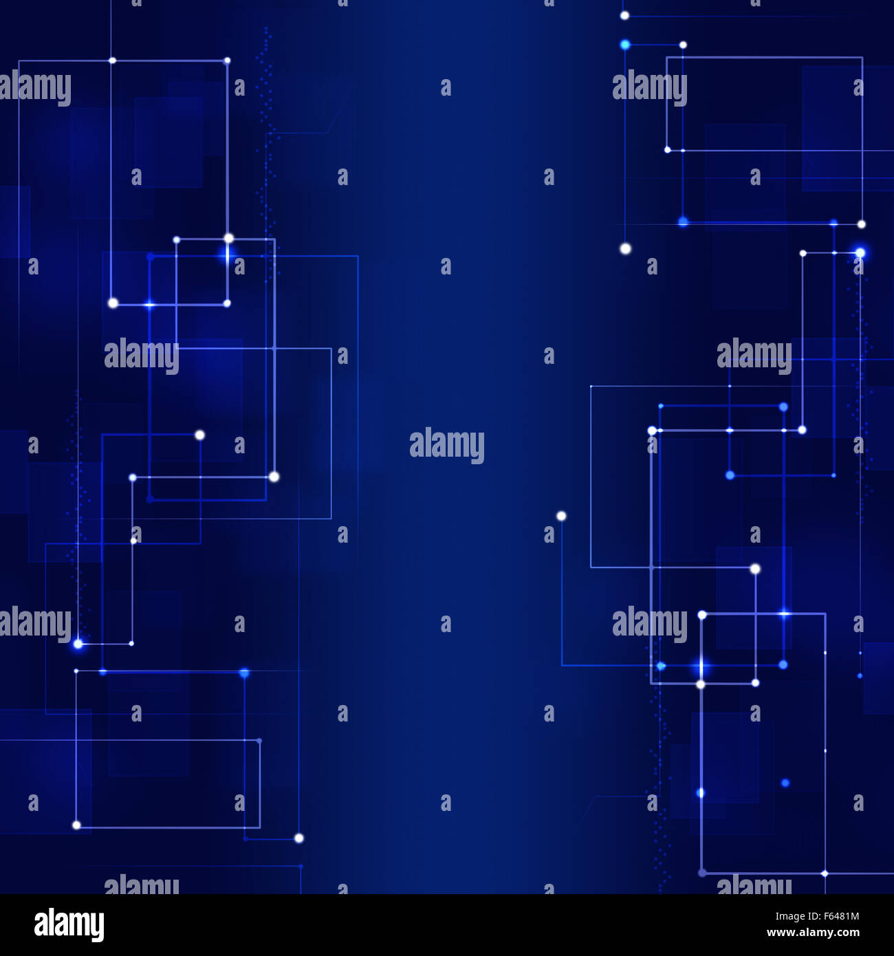abstract connections concept technology dark blue background - Stock Image