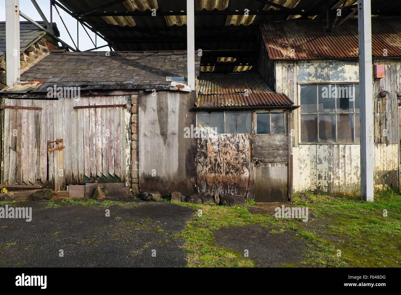 Decrepit farm buildings Cheshire England 2015 - Stock Image