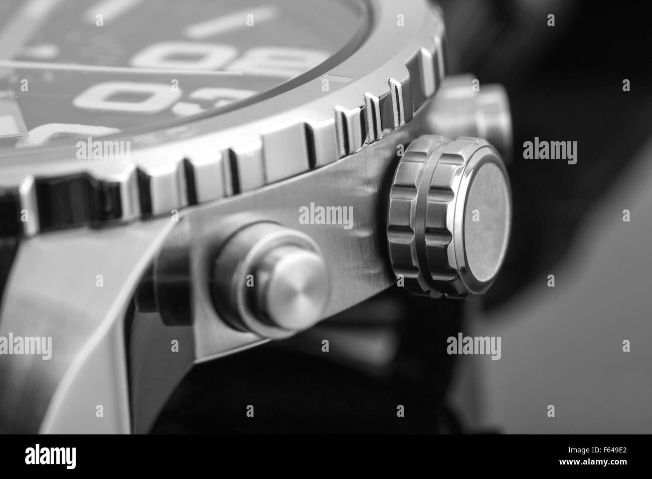 Macro view of expensive watch - Stock Image