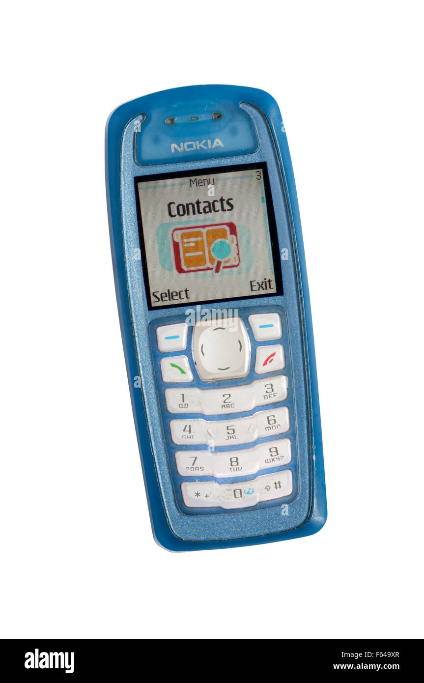 An old Nokia 3100 mobile 'phone - Stock Image