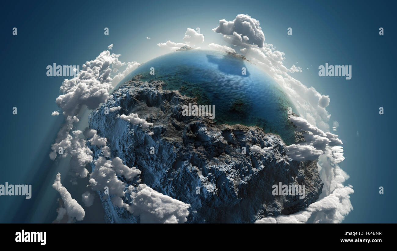 Cloud earth in space - Stock Image