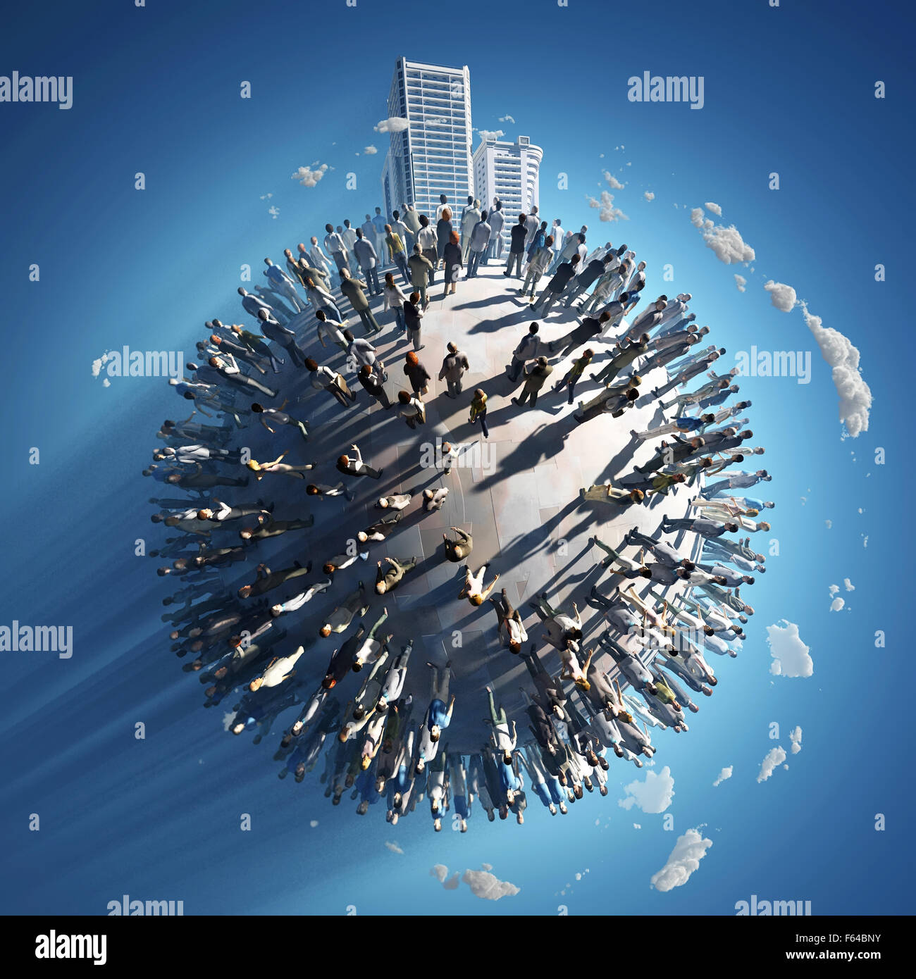 population of a small planet - Stock Image