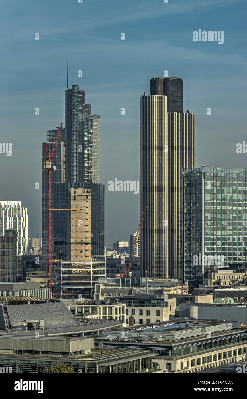 tall buildings in city of London Tower 42 - Stock Image