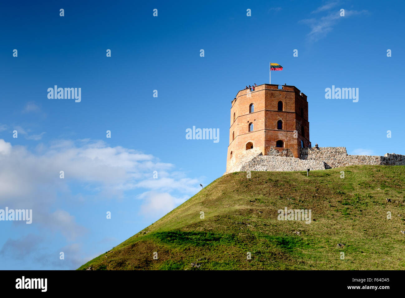 Gediminas Tower in Upper Castle in Vilnius, Lithuania - Stock Image