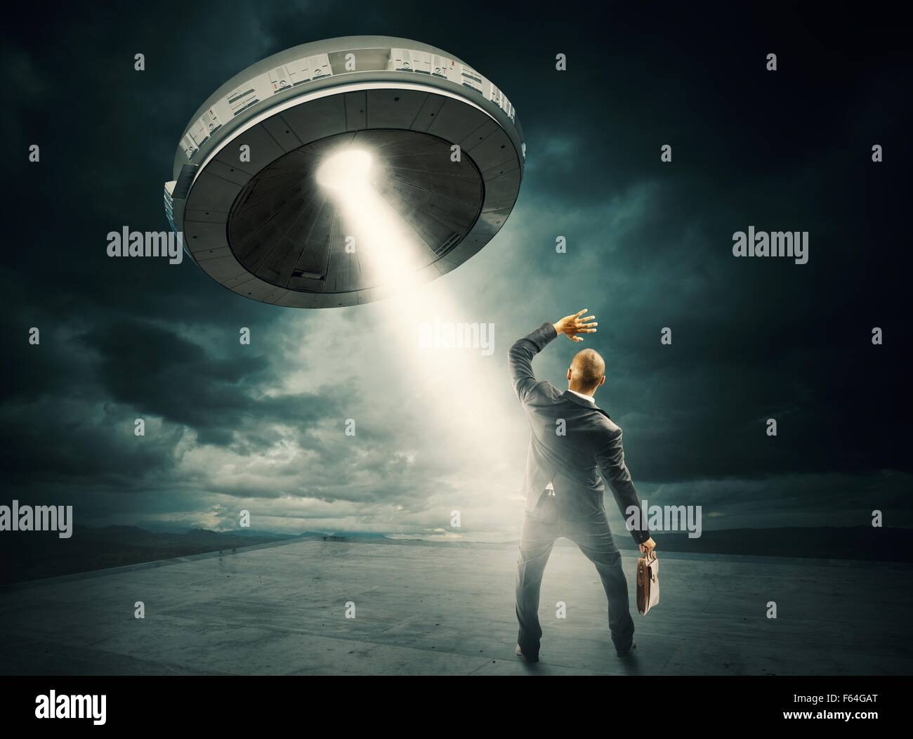 UFO space shuttle - Stock Image