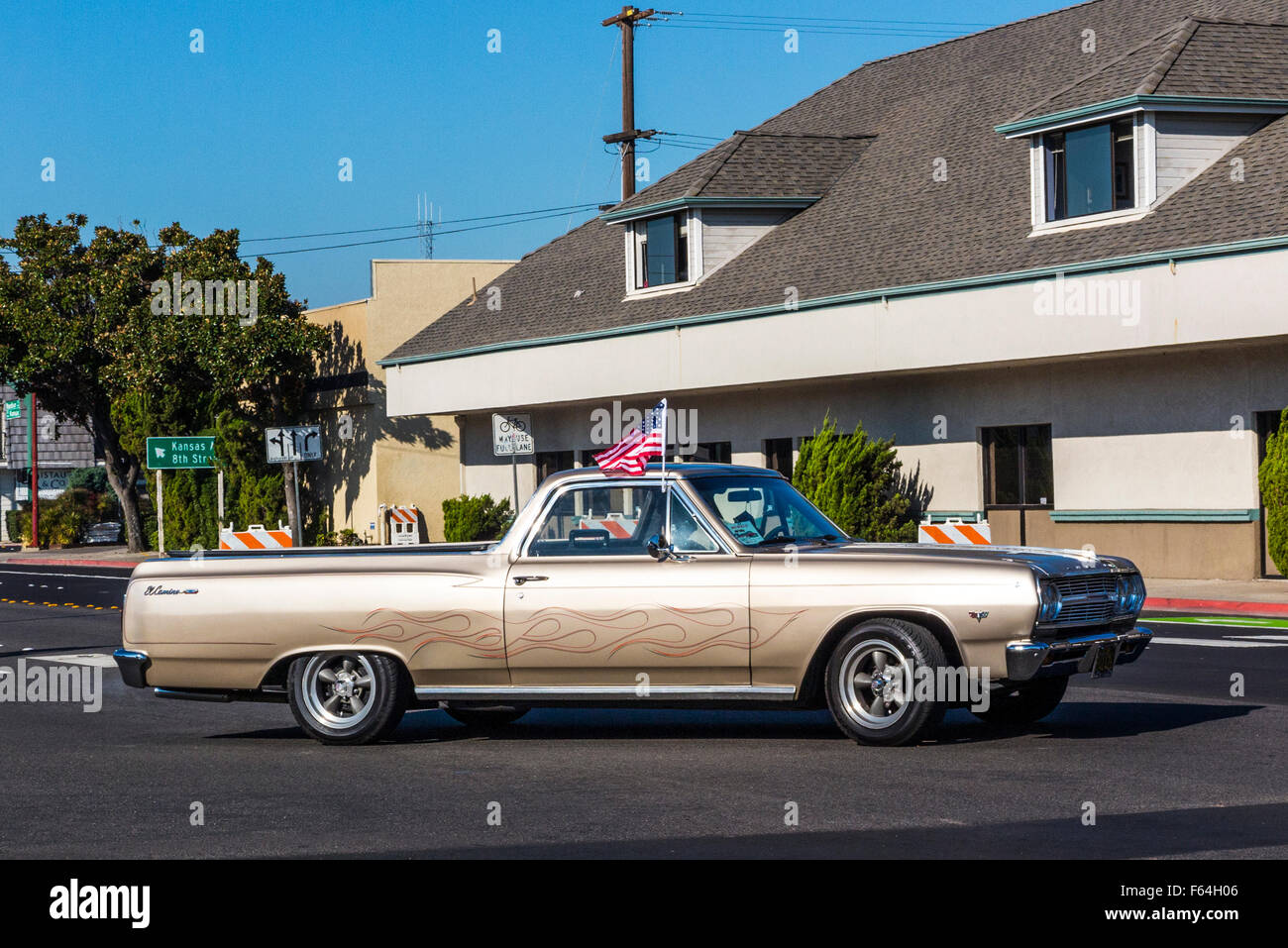 A 1965 Chevy El Camino At The 2015 Modesto California