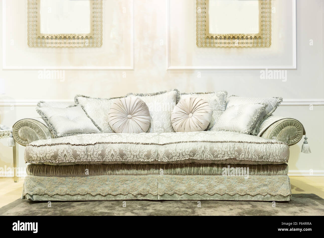 Admirable Luxury Interior With Nice Big White Sofa Stock Photo Pdpeps Interior Chair Design Pdpepsorg