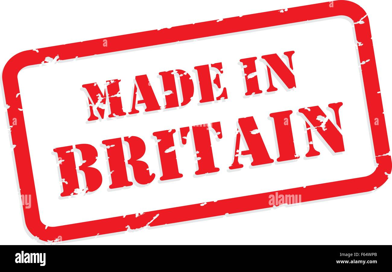 Red rubber stamp vector of Made In Britain - Stock Vector