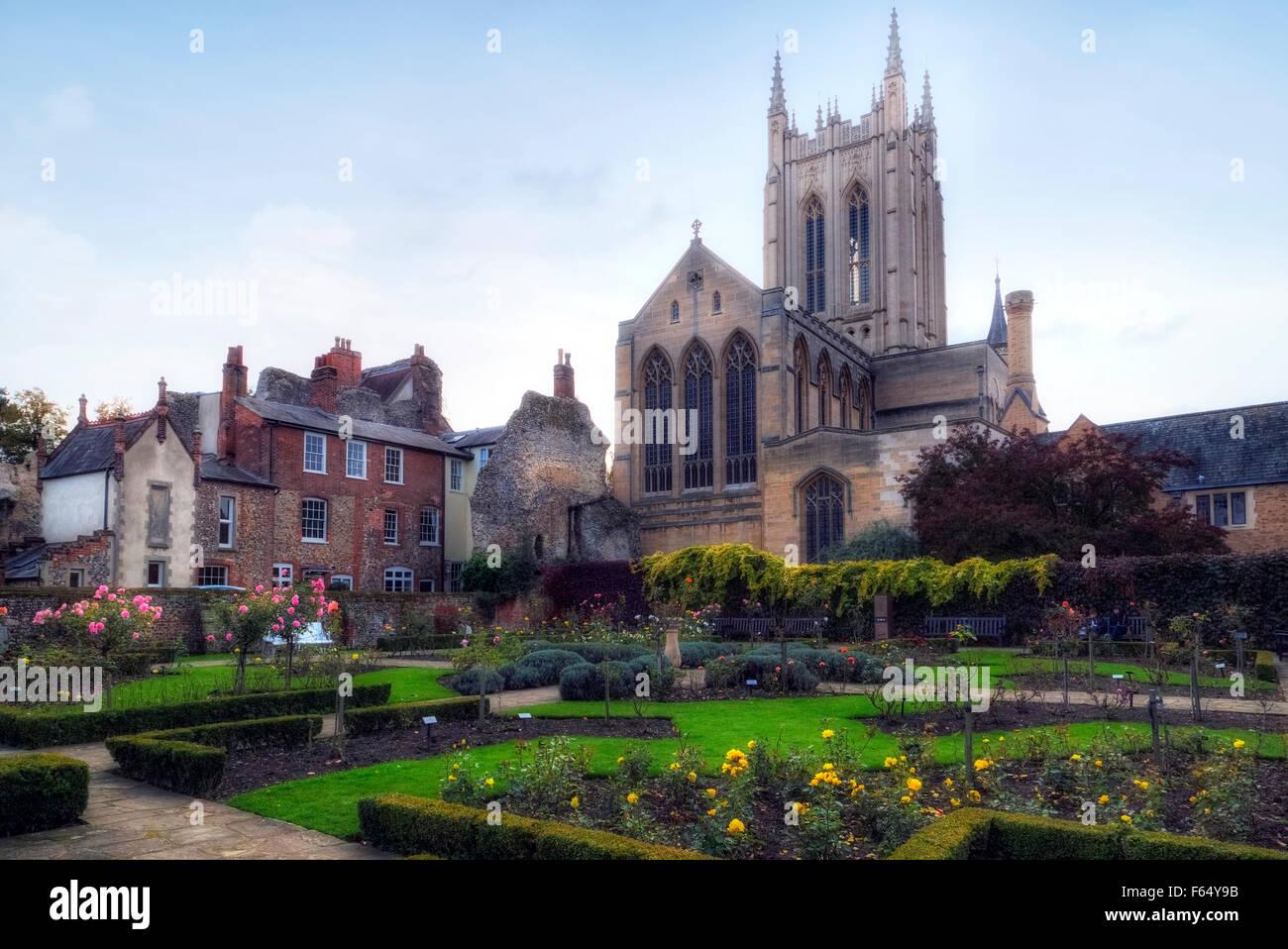 St Edmundsbury Cathedral, Bury St Edmunds, Suffolk, England, United Kingdom - Stock Image