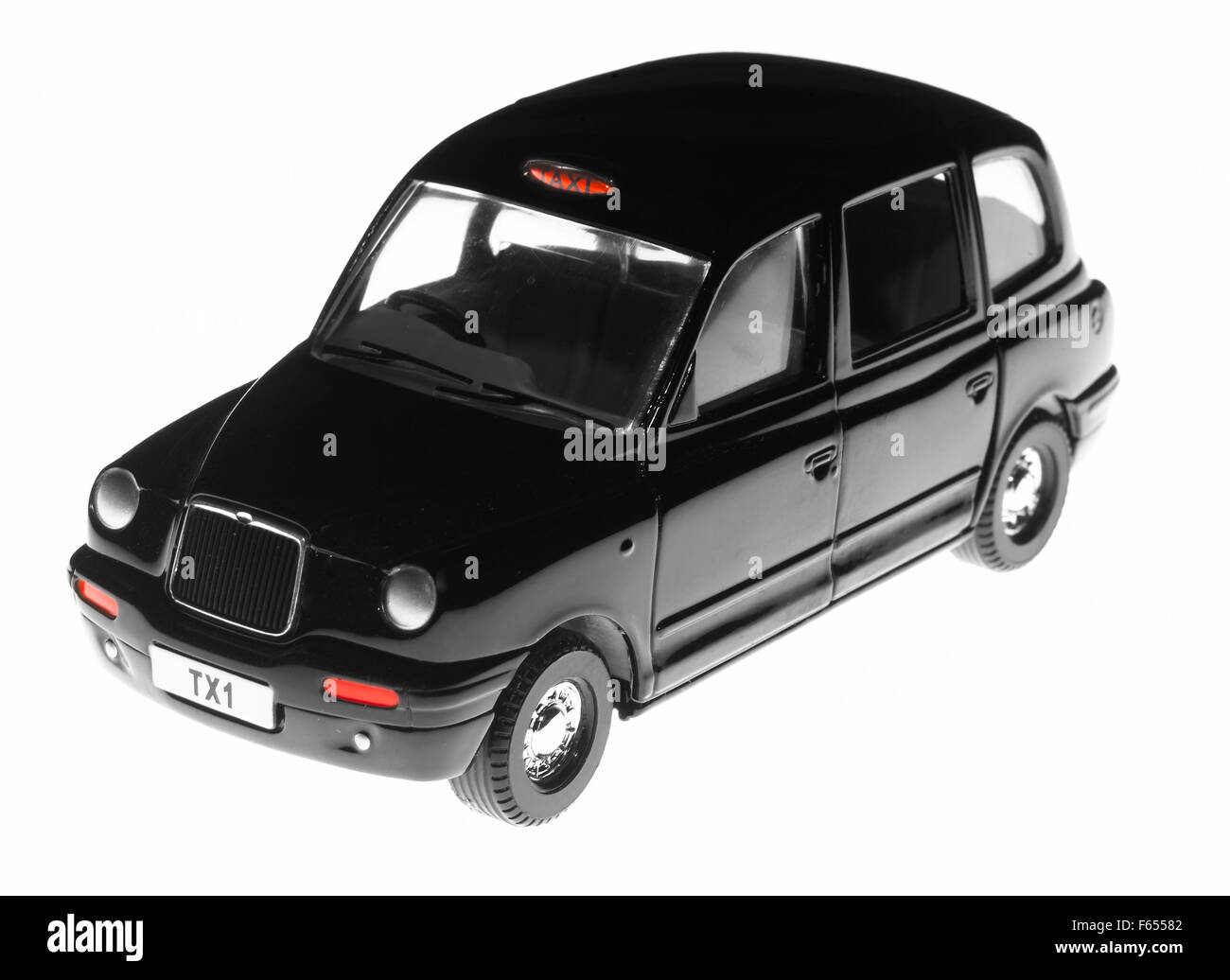 London black cab taxi - Stock Image