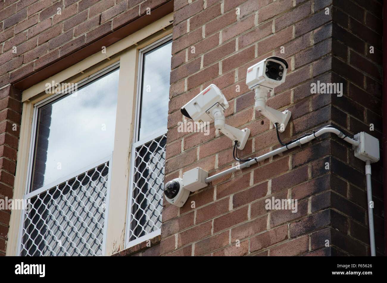 Surveillance or security CCTV camera - Stock Image