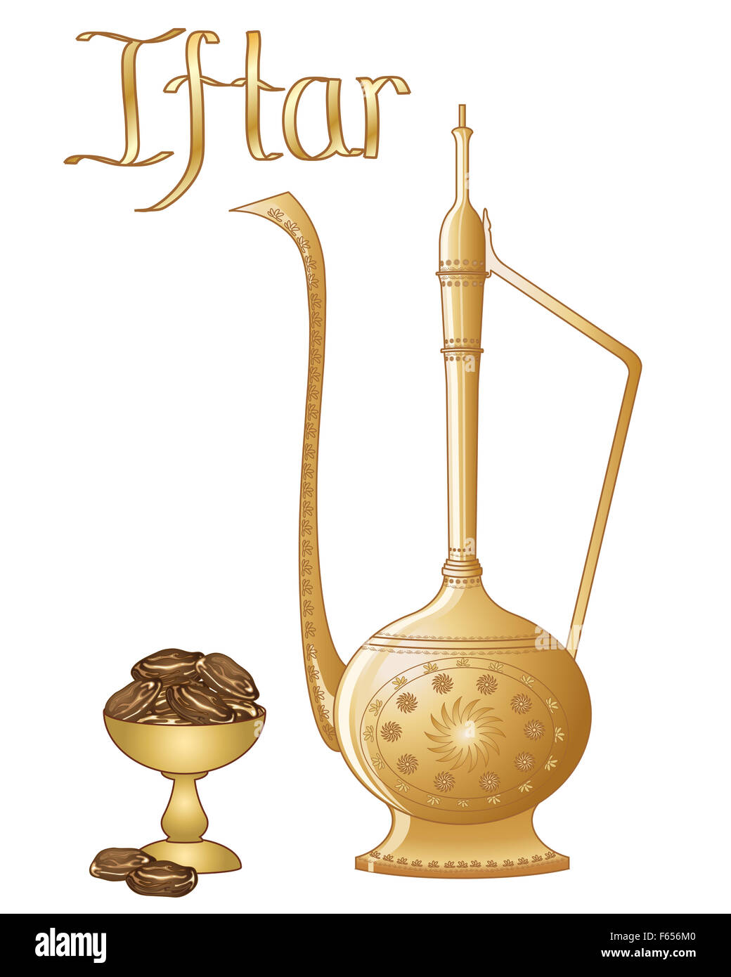 An illustration of an iftar party greeting in the format of an stock an illustration of an iftar party greeting in the format of an invitation card with dates and jug on a white background stopboris Gallery