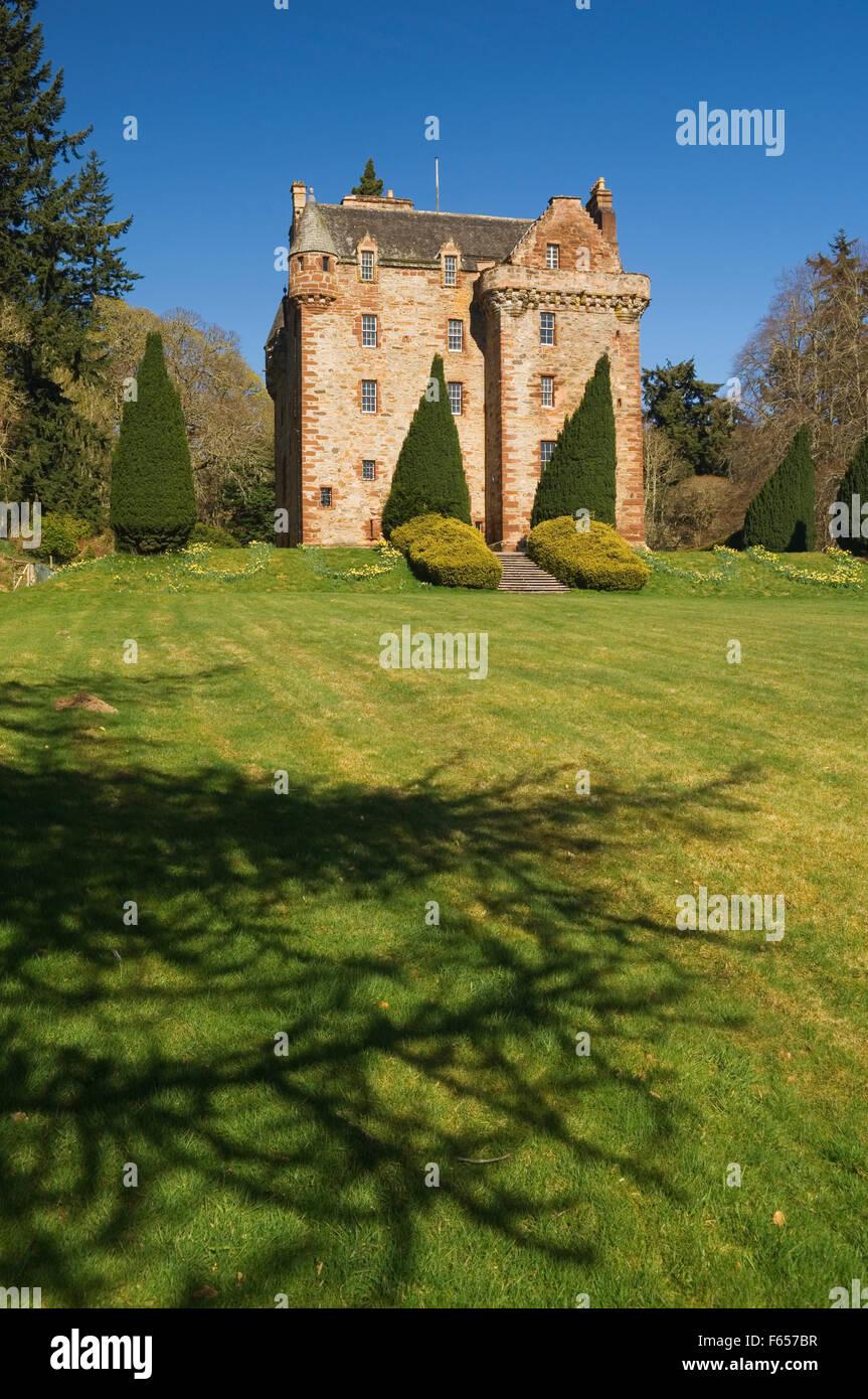 Castle Leod in spring, near Strathpeffer, Ross-shire, Scotland. Stock Photo