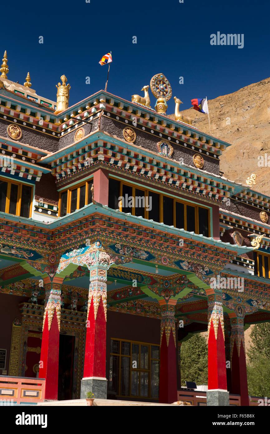 India, Himachal Pradesh, Spiti, Kaza, 2009 Sakya Tangyud (Tenggyu) Monastery entrance - Stock Image