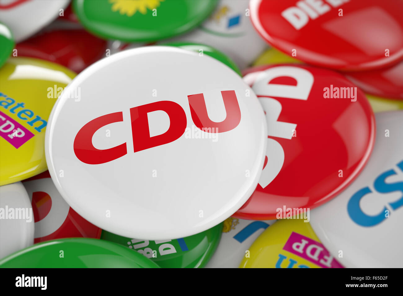 German political party CDU button - Stock Image