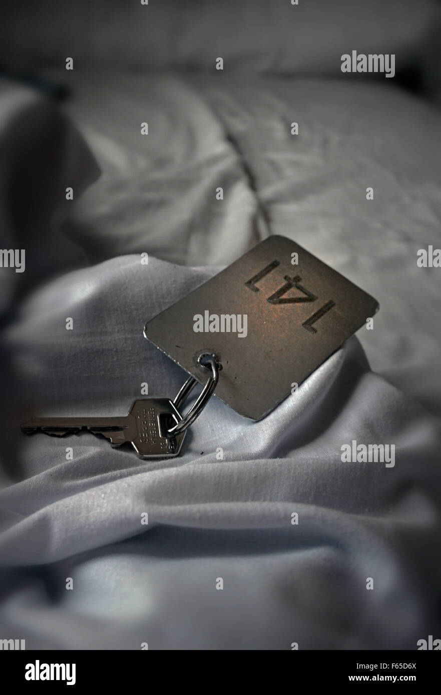 hotel door key - Stock Image