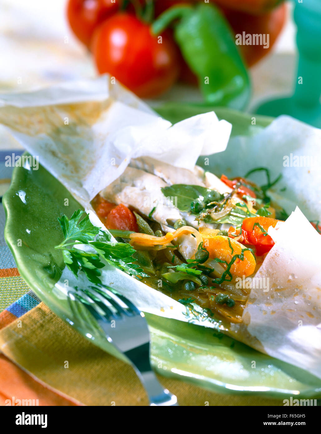 Mexican-style cod Stock Photo