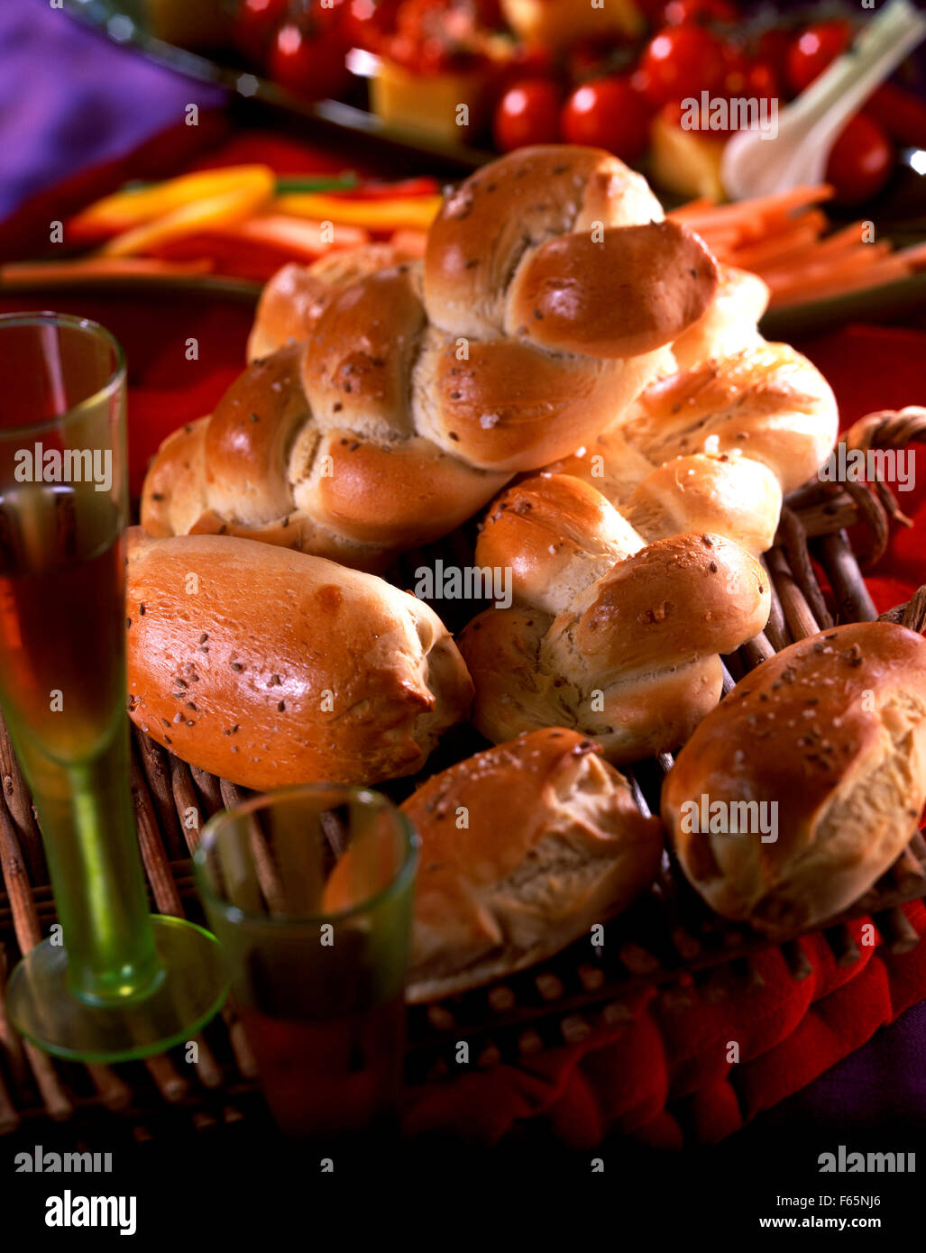 Aniseed bread buns Stock Photo