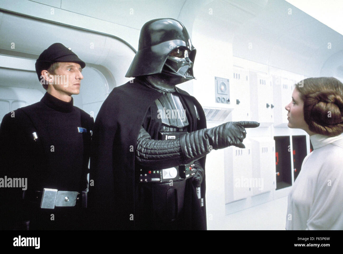 Star Wars: Episode IV - A New Hope Year : 1977 USA Director : George Lucas Kenneth Colley, David Prowse, Carrie - Stock Image