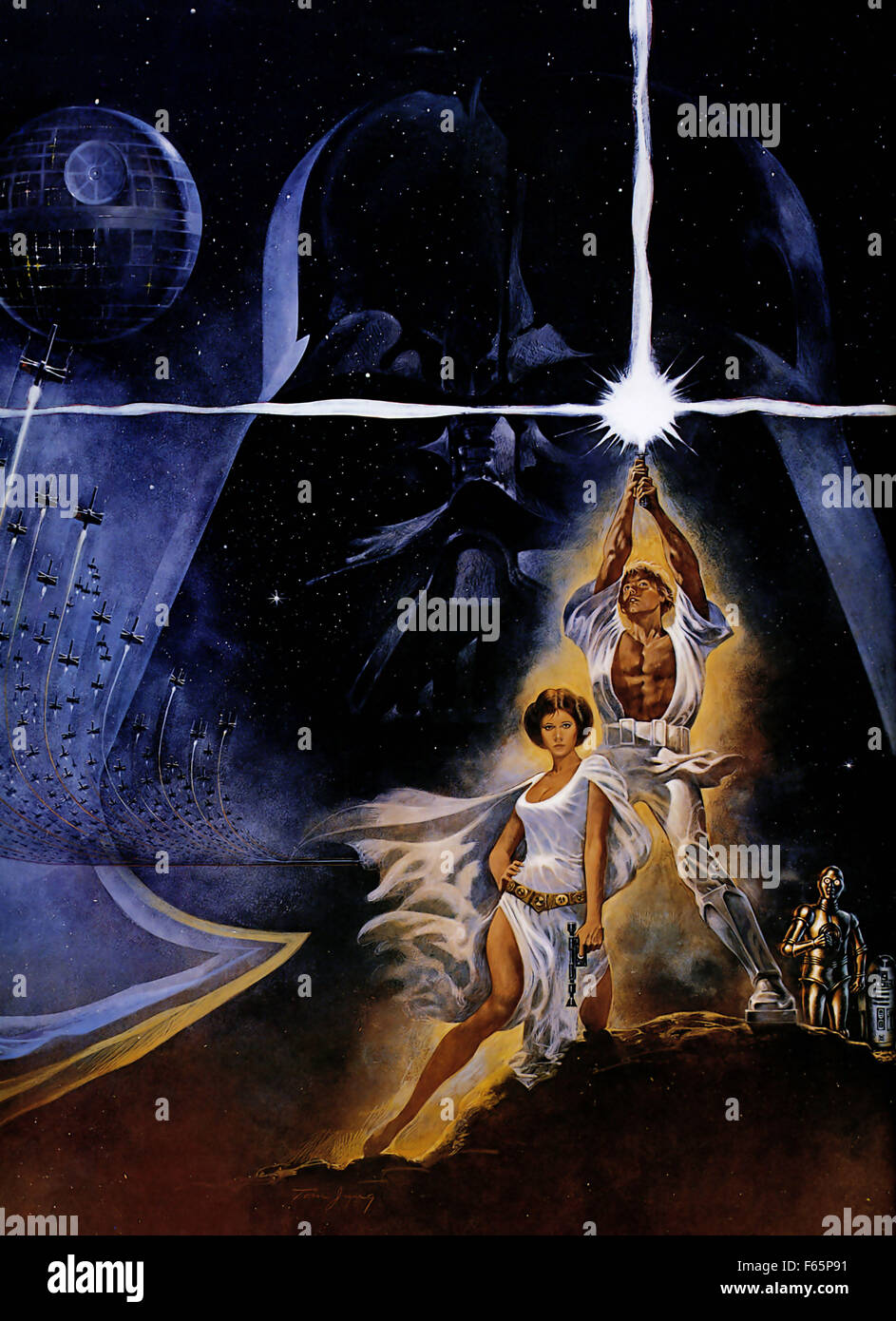 Star Wars Poster Iv High Resolution Stock Photography And Images Alamy